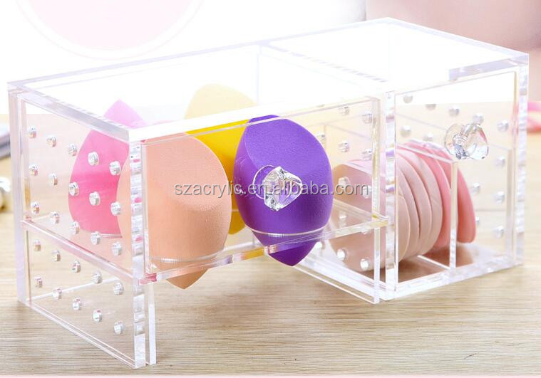 acrylic makeup cotton display/holder