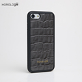 Genuine cow Leather phone accessories mobile case for iphone 8 plus crocodile pattern