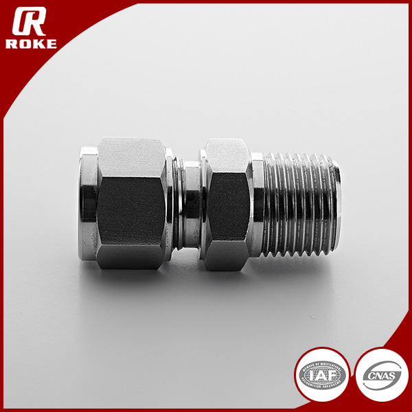 Parker Customized materials NPT Male Thread Double Ferrule Inconel625 hydraulic fitting connector