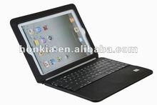 Ultrathin Bluetooth Wireless Keyboard with Leather Case for The New Ipad and Ipad2