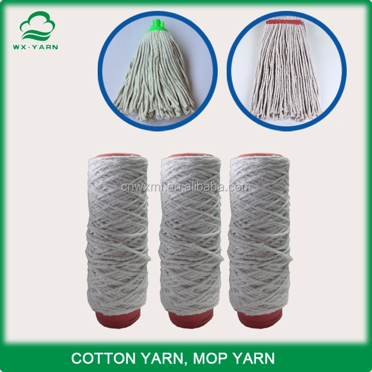 Manufacturer open end recycled cotton polyester yarn friction yarn spun 4 ply mop yarn