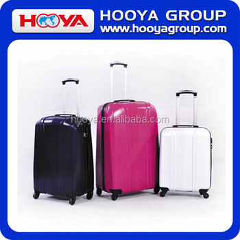 2016 Fashion Solid Color ABS+PC 3pcs/set Travelling Luggage