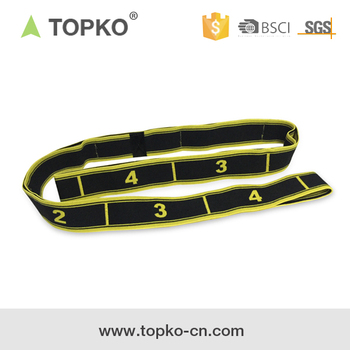TOPKO Exercise Cotton Yoga Stretching Flexible Strap with 10 Handling Loops