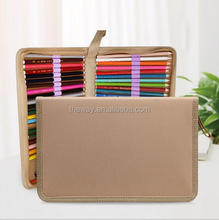 Folding Canvas zipper drawing pencil case 36/48/72 holes in choice Traveling pen box
