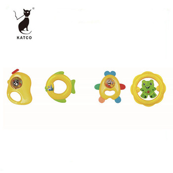 Safety Material Rattle Set Plastic Musical Baby Teething Toy For Newborn Baby