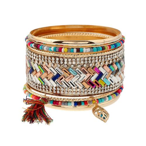 2017 hot rhinestone indian gold plated bangles accessories for women