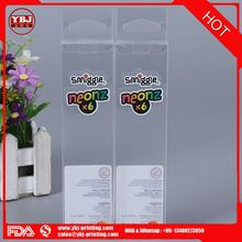 Guangzhou high quality clear pvc/pp/pet plastic transparent stationery packaging box