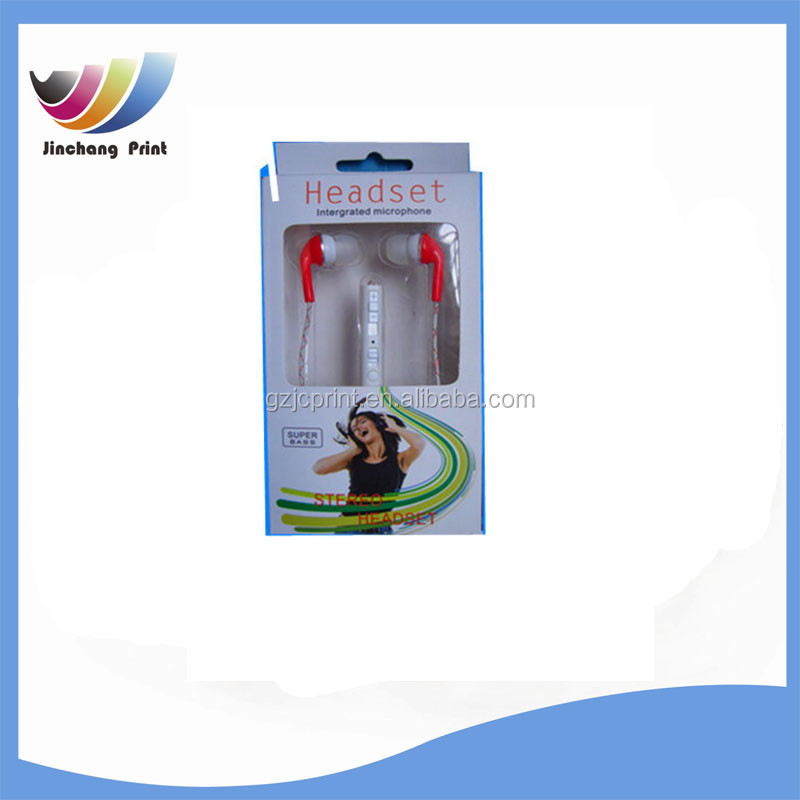 Clear PET/PVC Plastics Type and Electronic Industrial Use earphone packaging top clear pvc boxes