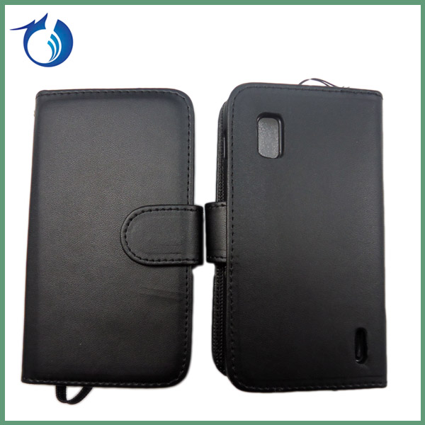 PU leather wallet case for lg google nexus 4 e960 back cover