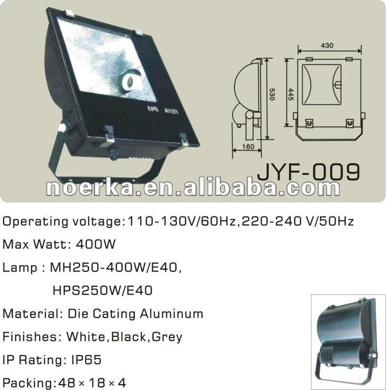Metal Halide Lamp and Sodium Lamp Flood light (Philips design), Die-casting Aluminum body
