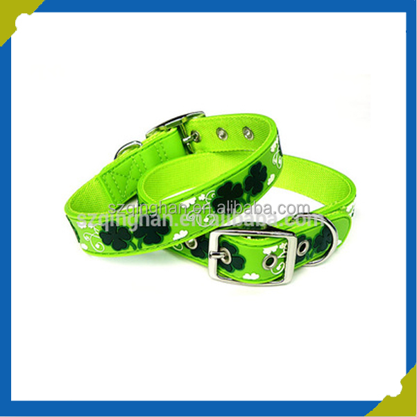 2.0CM width waterproof no stink eco-friendly nylon coated pvc pet collar dog collar for all size pet supplier