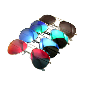Free Sample Unisex Wholesale Fashion Retro Vintage Polarized Custom Brand Pilot Metal Sunglasses