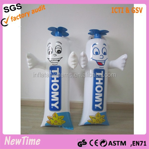 custom display advertising inflatable toothpaste