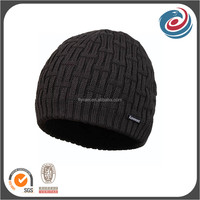 double layer keep warm winter hats polar fleece beanie
