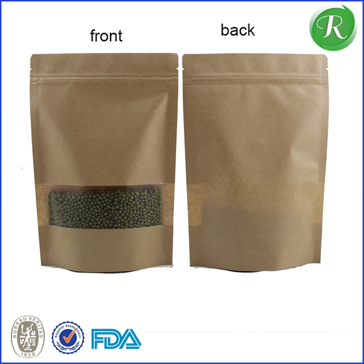 factory price zipper paper kraft coffee bag/round bottom bag/stand up pouch for coffee