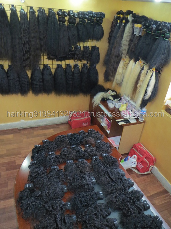 UNPROCESSED NATURAL INDIAN HUMAN TEMPLE HAIR EXPORTER HAIR REMOVAL AND PERMENENT HUMAN HAIR ATTACHMENTS