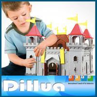 Indoor Play Castle Mini Castle Toy with Plastic Soldier