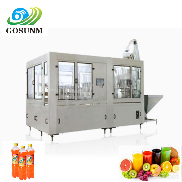 juice hot temperature filling capping trapping labeling shrink packing machine price