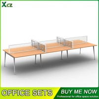 6 person workstation modern work table office desk