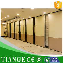 Movable sliding folding partitions walls acoustic removable partition