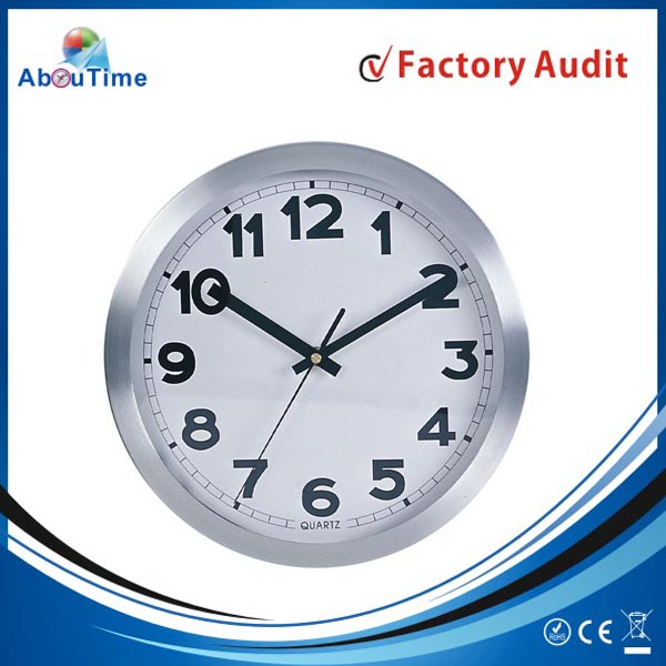 round 3d digital description for a wall clock wall silent movements