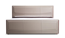 Luxury furniture italy modern style leather bed