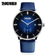 SKMEI japan movt quartz watch stainless steel good quality Custom leather quartz couple watches