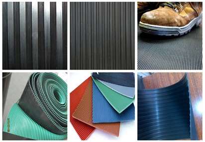 3mm-8mm Anti-Slip Series Braid Pattern Rubber Flooring Mat