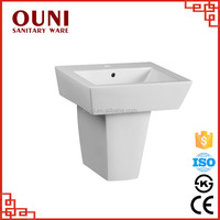 ON-540 Guaranteed Quality white half pedestal foot wash basin with great price