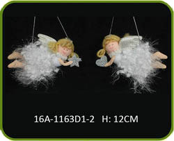 Hot sale christmas angel decorations, handmade Hanging Angel decoration