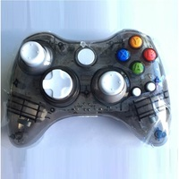 For Xbox 360 wireless transparent game controller lights built-in