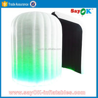 lighting inflatable green screen photo booth tent with led