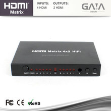 High Speed 4x2 HDMI Matrix Switch support 4K*2K 3D