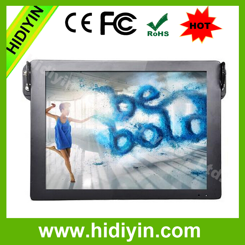 "18.5""auto copy function metal case bus handle advertising player"