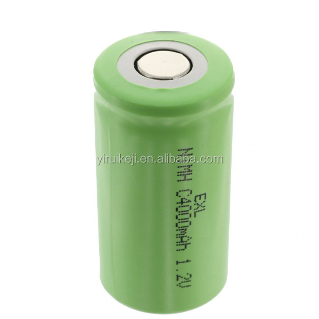 1.2V 4000mAh NiMH C Size Rechargeable Flat Top Battery