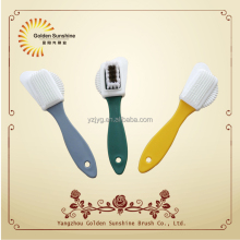 Hot selling plastic shoe polish brush, suede rubber nubuck shoe brush