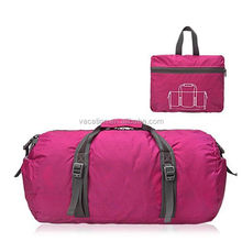 OEM vacation holiday travel bag for men rose red foldable duffel