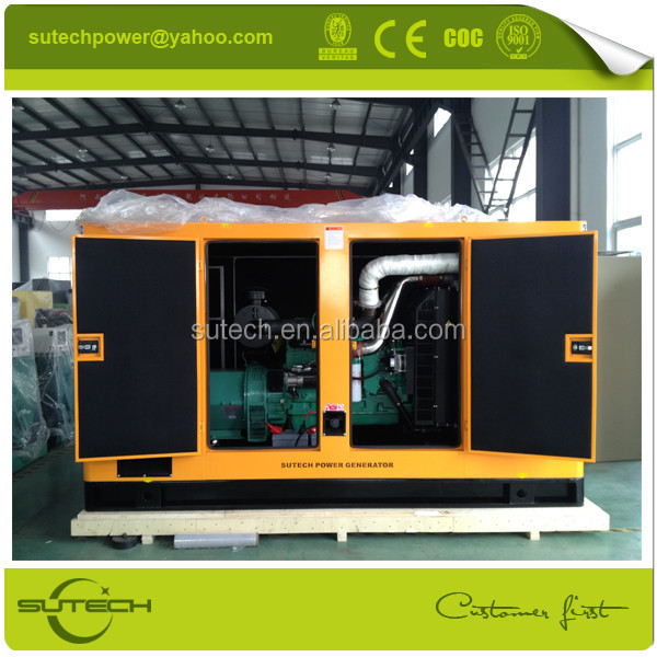 With Cummins engine and super silent soundproof 250 Kva diesel generator