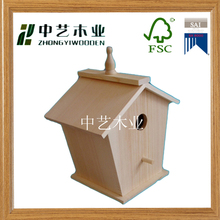 Trade assurance customized hanging garden decoration wooden bird house nest wholesale