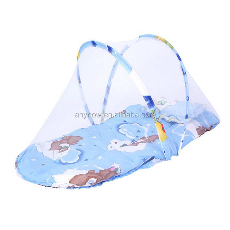 Foldable Baby Mosquito Bed Net with Mattress Pillow