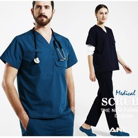 Hospital Doctor Short Sleeve Medical Clothing