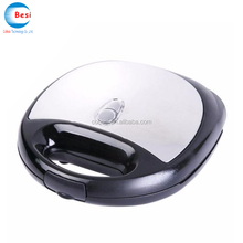Stainless steel decoration non-stick cool touch housing grill sandwich maker