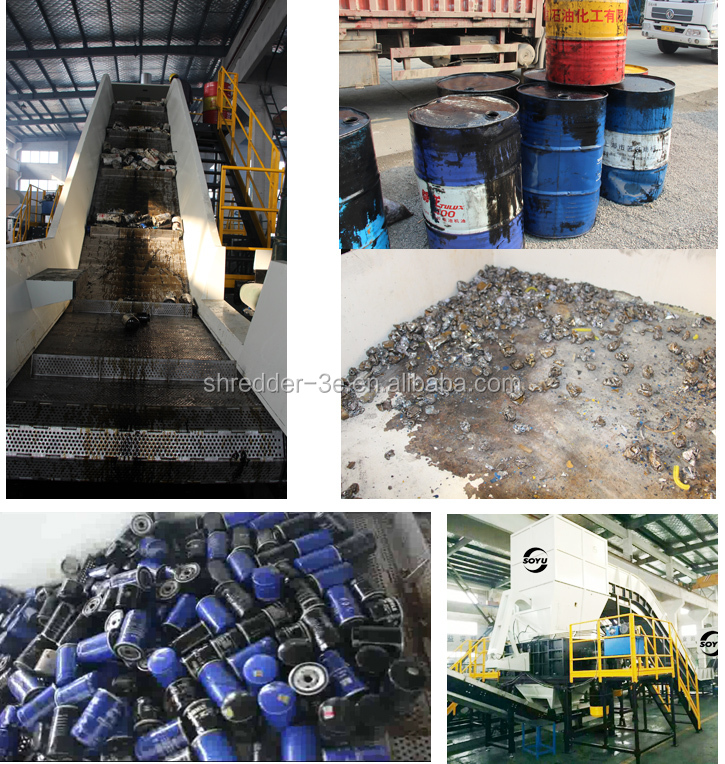 Oil filter recycling Plant