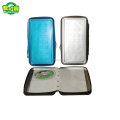 Factory Hot Sale Rectangle Metal CD Case With Zipper In China