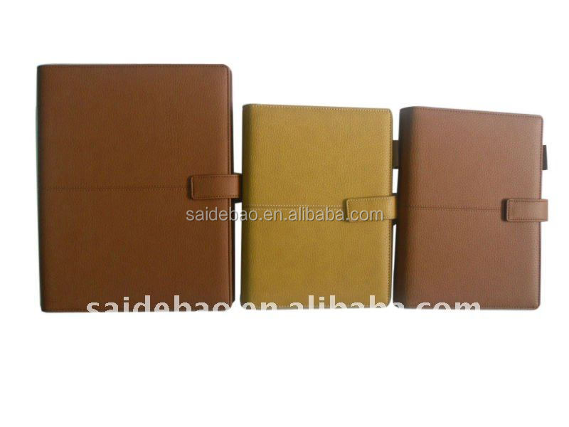 New design high quality factory price western classical leather dairy agenda A4