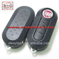 Best price car key Fiat 3 button remote key cover yellow fiat key cover