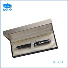 2017 new gifts carbon fiber metal roller ball pen with logo print gift pens for men