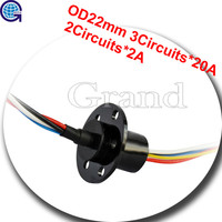 OD 22mm 5 conductors electrical contacts slip ring three phase slip ring motor