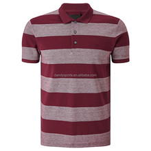 High Quality Polo shirts Custom Embroidery Men Color Striped Polo t-shirt 100% Cotton Pique Polo 210g Golf t
