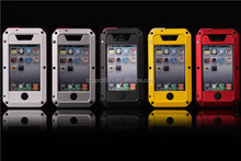 OEM ORDER WELCOME EXTREM PROCTECTION CASE FOR IPHONE4 4S Metal+Aluminium+Gorilla Glass Hybrid Case ANTI-SHOCK WATER PROOF CASE